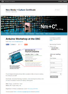Arduino Workshop Announcement