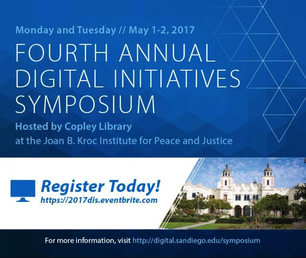 Digital Initiatives Symposium at University of San Diego