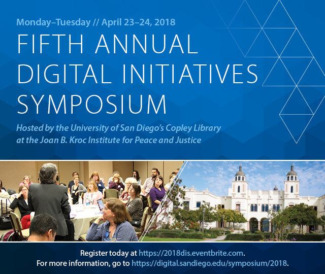 UCSD Library 5th Annual Digital Symposium Web Banner